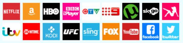 Die VPN-Software funktioniert mit allen Streaming-Anbietern