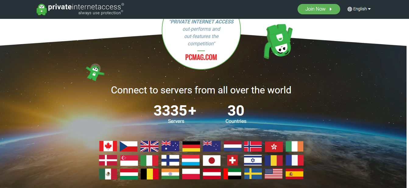 PRIVATE INTERNET ACCESS bietet bessere Leistung und hat mehr Funktionen als der Wettbewerb
